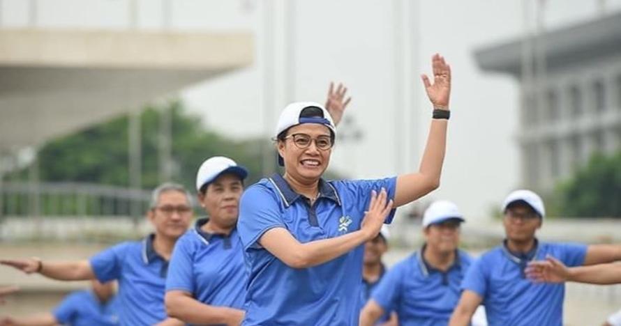 Rayakan Hari Oeang ke-72, begini aksi Sri Mulyani joget ala K-Pop