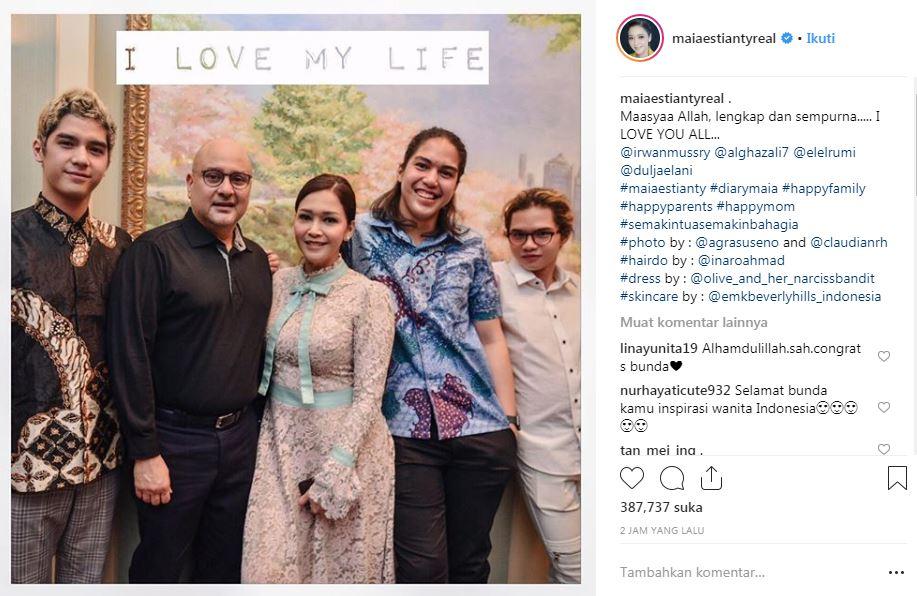 Resmi menjadi istri Irwan Mussry Instagram/@maiaestiantyreal