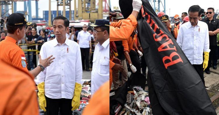 12 Momen Jokowi tinjau langsung posko SAR Lion Air di Tanjung Priok