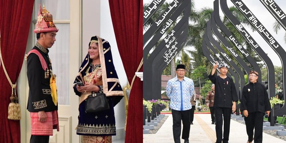 7 Potret Jokowi kenakan baju adat, karismanya nggak luntur