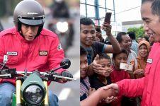 10 Aksi Jokowi naik motor terbarunya ke pasar tradisional