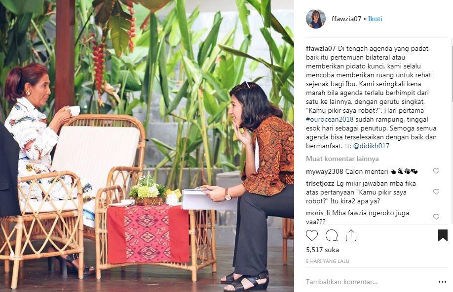 10 Potret Susi Pudjiastuti dan asistennya ini bukti mereka klop abis Instagram