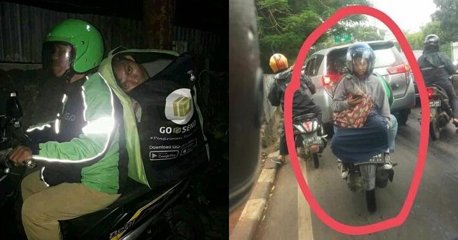 20 Foto lucu tingkah absurd penumpang ojek online, gagal paham