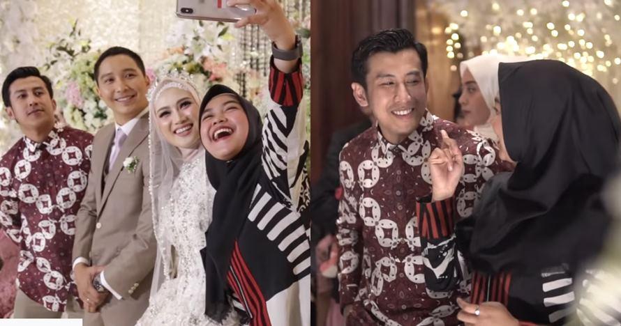 5 Momen Ria Ricis & Fandi hadiri pernikahan Melody JKT48, baper