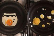 20 Kreasi telur ceplok ini kreatif abis, bikin nggak tega makan