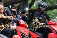 10 Momen Jokowi jajal Gesits, motor listrik karya dalam negeri