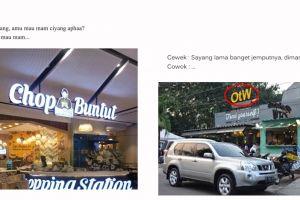 10 Obrolan lucu pakai nama tempat makan ini mengocok perut
