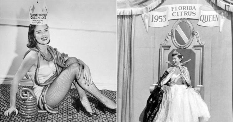 20 Pemenang ajang kecantikan bertema makanan satu abad lalu