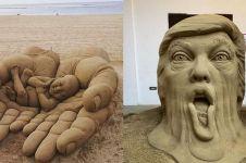 15 Patung pasir berwujud manusia ini bikin takjub