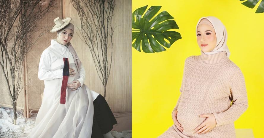 10 Potret maternity Natasha Rizky, anggun pakai kostum ala Korea