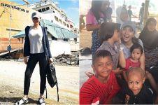 15 Aksi Kalina Ocktaranny mantan istri Deddy Corbuzier bantu Palu