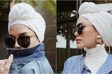 10 Gaya Nikita Mirzani pakai turban, bisa kamu tiru nih