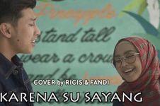 Ria Ricis dan Fandi cover lagu Karna Su Sayang, bikin baper