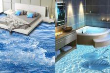15 Desain lantai rumah 3D bertema laut ini keren abis