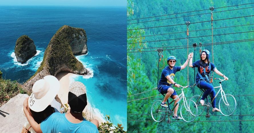10 Potret wisata ketinggian Arief Poconggg & istrinya, mesra