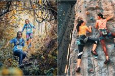 10 Gaya Olivia Jensen olahraga ekstrem, mendaki gunung di Austria