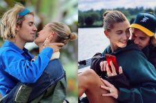 10 Potret mesra Justin Bieber dan Hailey Baldwin ini bikin baper