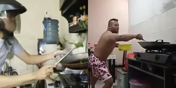 20 Video lucu orang masak ini bikin perut kaku nahan tawa