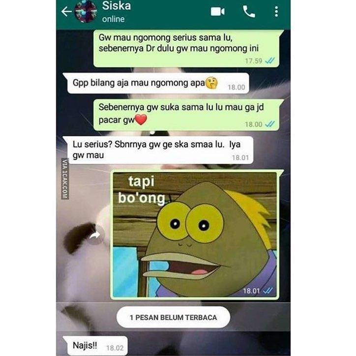 chat lucu baper © 2018 berbagai sumber