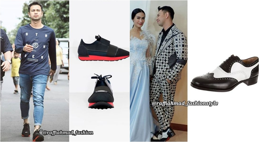 20 Sepatu Raffi Ahmad berharga fantastis, ada yang senilai motor bebek