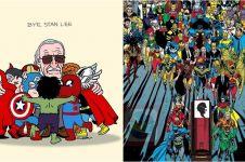12 Ilustrasi penghormatan terakhir untuk Stan Lee, bikin mewek
