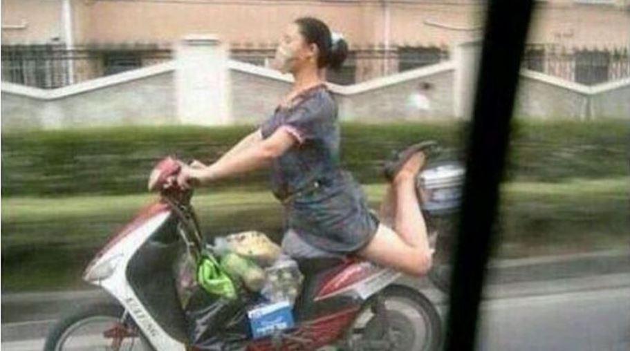 tingkah lucu pengendara motor instagram