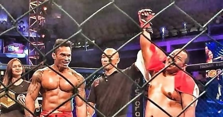 Petarung tambun asal Indonesia ini jadi juara heavyweight MMA
