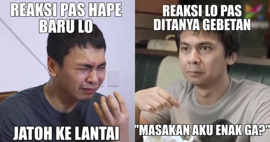 10 Meme lucu 'reaksi lo' ala Raditya Dika ini kocak abis