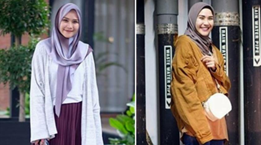 12 Gaya outerwear ala Zaskia Mecca, bisa jadi inspirasi hijabers