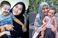 10 Beda gaya Zaskia Adya Mecca dan Shireen Sungkar saat asuh anak