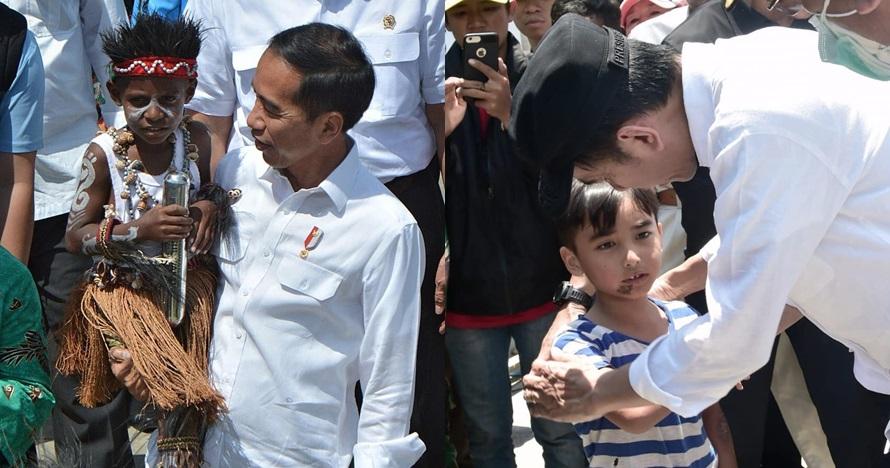 10 Momen Jokowi akrab dengan anak kecil, kerap digendongnya