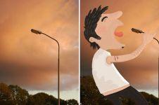 16 Foto benda mati digabung gambar kartun, jadi tampak hidup