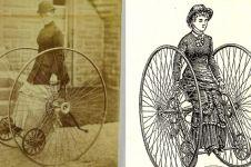 10 Potret langka Dicycle, kendaraan era 1880 yang mirip sepeda