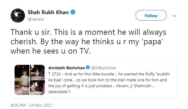 Lucu, anak Shah Rukh Khan mengira Amitabh Bachchan adalah kakeknya istimewa
