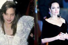 10 Transformasi gaya Angelina Jolie, masa mudanya bikin pangling