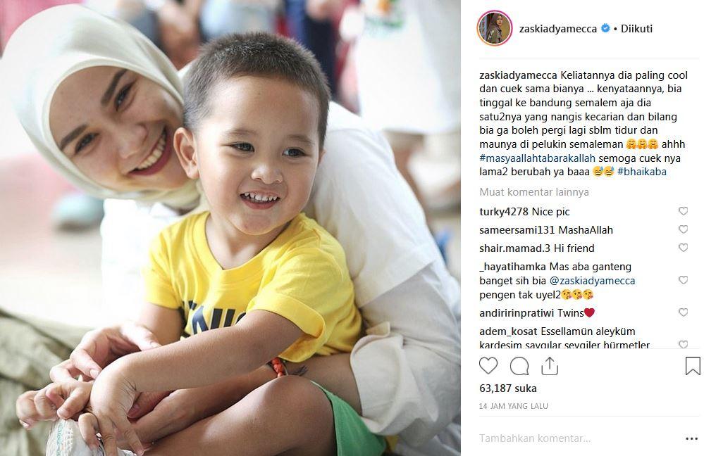 curhat zaskia tentang anaknya yang cuek instagram