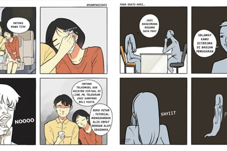10 Komik Strip Absurd Ini Lucunya Bikin Perut Mules