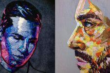10 Karya bentuk wajah dari sulaman ini detailnya bikin kagum
