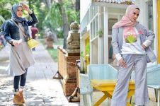 10 Gaya busana Angel Lelga dalam balutan hijab, modis banget