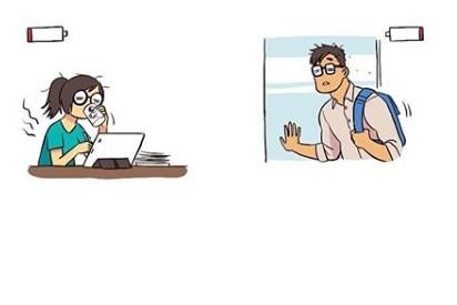 Komik strip kisah cinta pasangan karier ini bikin haru