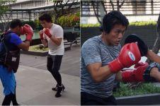 15 Aksi Reino Barack saat boxing, cepat dan gesit