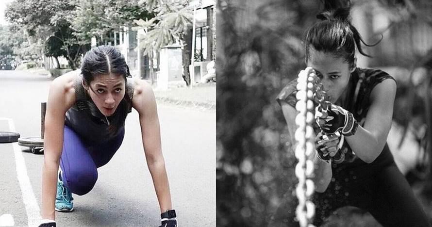10 Gaya olahraga Paula Verhoeven ini jauh dari kesan feminin