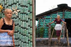 12 Foto rumah botol plastik bikinan nenek 87 tahun ini keren abis