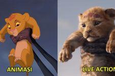 8 Perbandingan adegan film The Lion King dan animasinya 24 tahun lalu