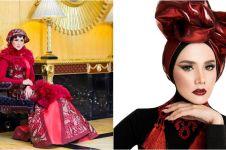 12 Gaya busana muslim Mulan Jameela, modelnya nggak biasa