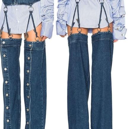 15 Model celana jeans ini absurd abis, bikin gagal paham