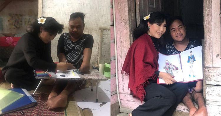 7 Momen haru Rahmat Hidayat, desainer difabel bertemu Anne Avantie