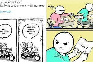 12 Komik strip 'salah paham' ini lucunya bikin tepuk jidat