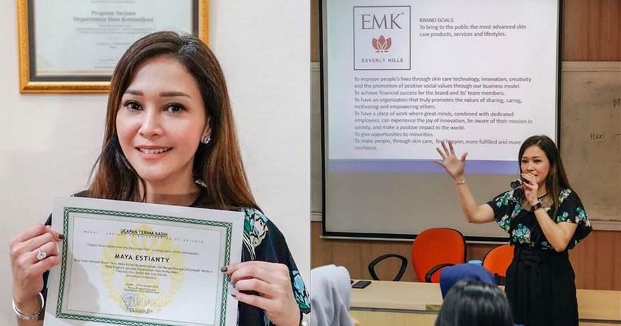 7 Momen Maia Estianty jadi dosen di UI, beri kuliah kepemimpinan