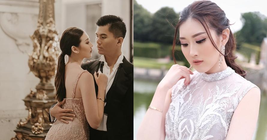 5 Gaya busana simpel Clarissa Wang saat prewedding, tetap elegan